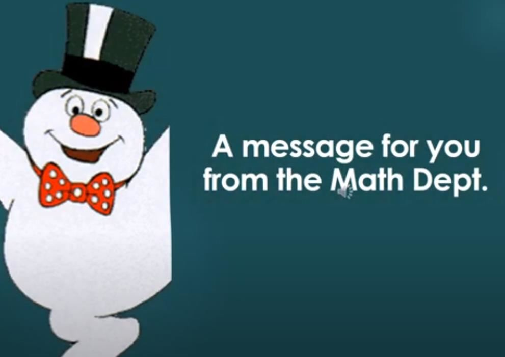Warm Holiday Greetings from Math Department
